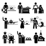 De speciale Carrières van Banenberoepen royalty-vrije illustratie