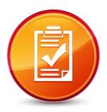 De speciale glazige oranje ronde knoop van het controlelijstpictogram royalty-vrije illustratie
