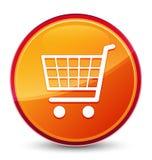 De speciale glazige oranje ronde knoop van het elektronische handelpictogram vector illustratie
