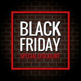 De Speciale Korting van Black Friday stock illustratie