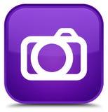 De speciale purpere vierkante knoop van het camerapictogram Royalty-vrije Stock Afbeeldingen