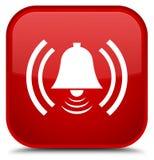 De speciale rode vierkante knoop van het alarmpictogram Royalty-vrije Stock Fotografie