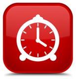 De speciale rode vierkante knoop van het wekkerpictogram Royalty-vrije Stock Foto's