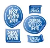 De speciale stickers van de de winteraanbieding Stock Afbeeldingen