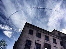 De speciale wolk is als voetafdrukken in de hemel Royalty-vrije Stock Fotografie