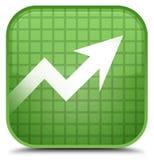 De speciale zachte groene vierkante knoop van het bedrijfsgrafiekpictogram Stock Afbeelding