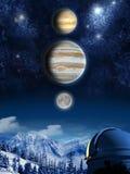 De spectaculaire hemel toont Royalty-vrije Stock Afbeeldingen