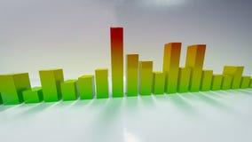 De spectrumanalysator met 3D bezinning geeft terug royalty-vrije illustratie