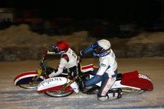 De Speedwaybaan van het ijs royalty-vrije stock afbeeldingen