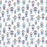 De speelachtergrond van het kinderen naadloze patroon Royalty-vrije Stock Afbeeldingen