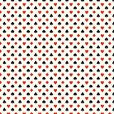 De speelkaart past naadloos patroon aan - harten, clubs, spades, diamanten royalty-vrije illustratie