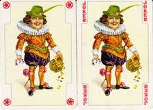 De speelkaart van de joker Stock Afbeeldingen