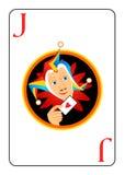 De speelkaart van de joker Royalty-vrije Stock Afbeelding