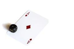 De speelkaarten en dobbelen Stock Afbeeldingen