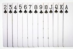 De speelkaarten van clubs Stock Afbeeldingen