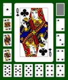 De speelkaarten van het clubskostuum Stock Foto