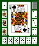 De speelkaarten van het spadeskostuum Stock Afbeelding