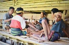 De Speelkaarten van Sumbanesemensen, Indonesië royalty-vrije stock afbeelding