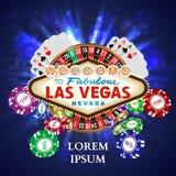 De Speelkaarten witn Dalende Spaanders van de casinoroulette Stock Afbeelding