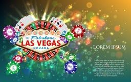 De Speelkaarten witn Dalende Spaanders van de casinoroulette Royalty-vrije Stock Foto's