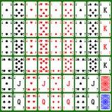 De speelkaartreeks produceerde hurentextuur Stock Foto's