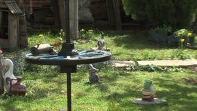 De speelplaats in de Overzeese Tuin van Bourgas in Bulgarije stock footage