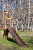 De speelplaats van de raket voor jonge geitjes Stock Foto