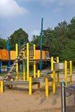 De speelplaats van het zand en van het water in park Stock Foto