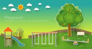 De speelplaats van jonge geitjes Vector illustratie Royalty-vrije Stock Foto's