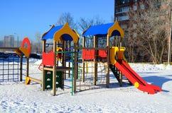 De Speelplaats van kinderen met dia's Royalty-vrije Stock Fotografie