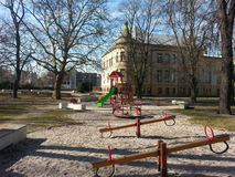 De speelplaats van lege childrenRoyalty-vrije Stock Foto