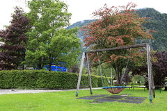 De speelplaats van natiekinderen op park Royalty-vrije Stock Foto's