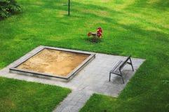 De speelplaats van zandkinderen Stock Foto
