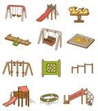 De speelplaatspictogram van het beeldverhaal Royalty-vrije Stock Foto