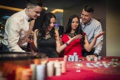De SpeelRoulette van de groep Stock Afbeelding