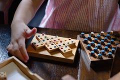 De speelspelen van het kind Stock Afbeeldingen