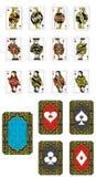 De spela korten stock illustrationer