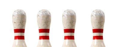 De Speld van Bowlin in een Rij Royalty-vrije Stock Afbeeldingen