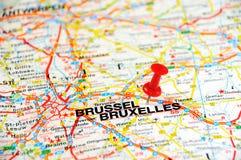 De speld van Brussel Stock Foto's
