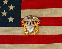 De Speld van de Marine van de vlag stock foto's
