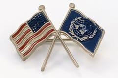 De speld van de Verenigde Naties Royalty-vrije Stock Afbeeldingen
