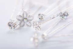 De spelden van de zilveren bruiloft Stock Foto