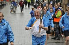 2014 de Spelen van de Commonwealth het Relais van de Koningin` s Knuppel Stock Foto