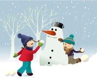 De spelen van de de wintersneeuw vector illustratie