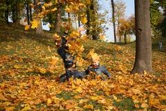 De spelen van de herfst Stock Afbeeldingen
