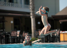 De spelen van de pool Royalty-vrije Stock Foto's