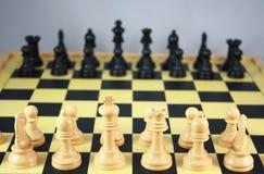 De spelen van de schaakraad Royalty-vrije Stock Foto's