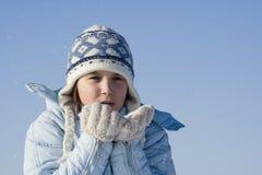 De spelen van de sneeuw Stock Foto's