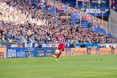 De spelen van Gabi bij de gelijke van La Liga tussen RCD Espanyol en Atletico DE Madrid Royalty-vrije Stock Fotografie