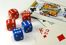 De spelen van het casino stock fotografie